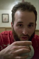 tea kevin? (Edward Moore as edshots) Tags: portrait england food white man cup face digital canon beard eos 50mm sussex coast cafe brighton flickr tea drink diner mug 5d canon5d pancake dslr meet lomokev kevinmeredith lightroom 1250 industar fullenglish 1250iso brightonflickrmeet orinmycasealovelyblttoasted