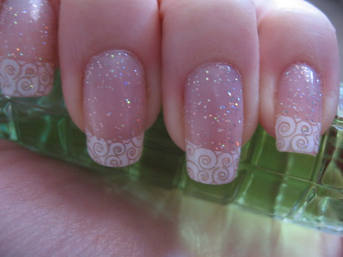 3322141917 df1fc04012 d Elegant Nail art for a wedding