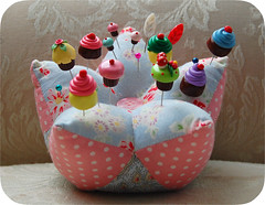 My Pretty Pincushion (GoingSewCrazy) Tags: diy pin sewing sew cupcake clay kawaii sculpey pincushion polymer gigiminor