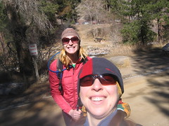 Clare & Jen Starting Hike in Eldorado Canyon