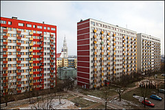 residential blocks - Bialystok Poland (Maciej Dakowicz) Tags: street city church architecture europe view poland polska socialist block residential socialism bialystok podlaskie