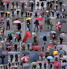 from my window. Today: umbrellas (atelierif) Tags: people colour rain romania umbrellas baiamare 7march creattivit republiciistreet
