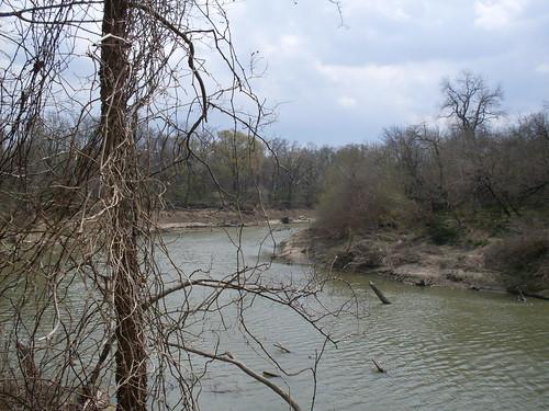 Trinity River near Dallas Texas USA