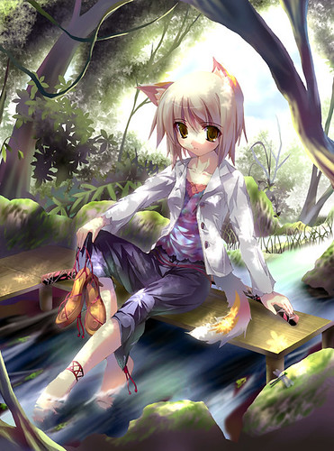 cool anime wolf neko girl