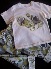 Elephant flannel and organic cotton