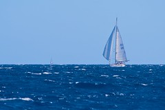 Two sheets to the wind (alumroot) Tags: blue sailboat boat caribbean bvi undersail
