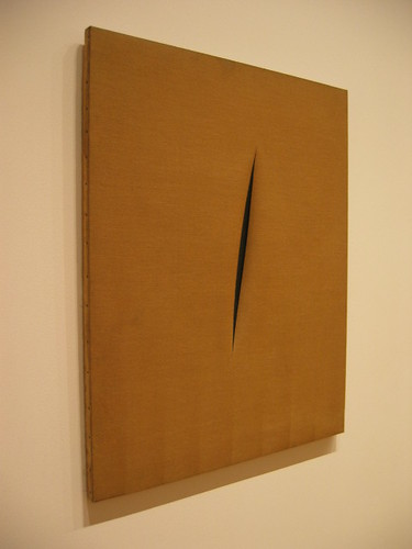 MoMA: Fontana, Spatial Concept: Expectations (1960) by proflauber