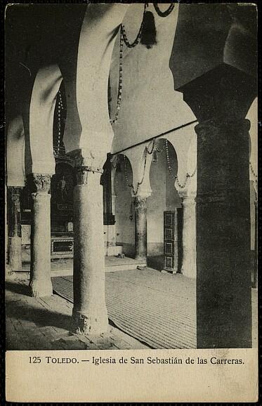 Iglesia de San Sebastián hacia 1925. Foto H.A.E.