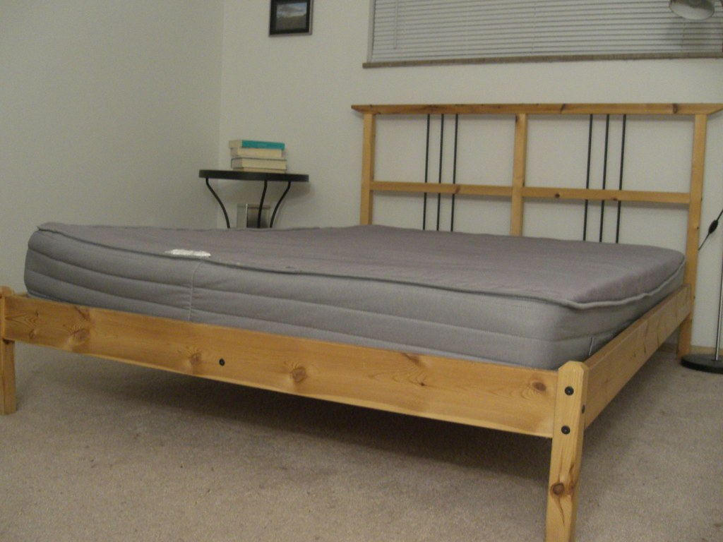 the bedframe and its mattress