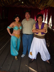 Me with Jasmine and Aladdin at Aladdin's Oasis in Adventureland (Loren Javier) Tags: me disneyland adventureland lorenjavier