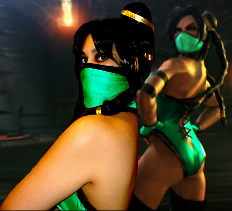 Fashion Pure Mortal Kombat Jade Cosplay