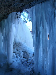 ...meanwhile, back at the ice cave... (reflectionsofthenorth) Tags: ontario nature manitoulin manitoulinisland bridalveilfalls northernontario icecave naturephotography coldasice kagawong ontarionature abigfave aplusphoto