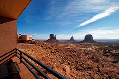 Monument Valley - View Hotel (mojo2u) Tags: arizona southwest utah desert redrock monumentvalley hdr monoliths sigma1020mm navajotribalpark themittens photomatrix nikond80 viewhotel monumentvalleyhotel