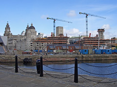 Mann Island construction 2 (jononon) Tags: city liverpool threegraces museumofliverpoollife