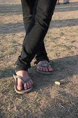 Megan's Alien Tattoo (SarahThe) Tags: feet tattoo austin texas alien tribal trinity sxsw flipflops atx southbysouthwest sarahthe