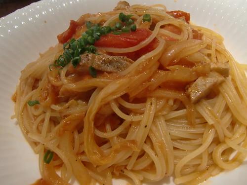 spaghetti spicy tomato sause