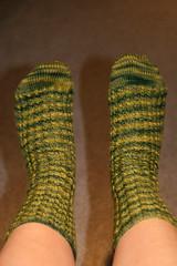 Turtle Socks Top View (mersears) Tags: socks turtle knit picks