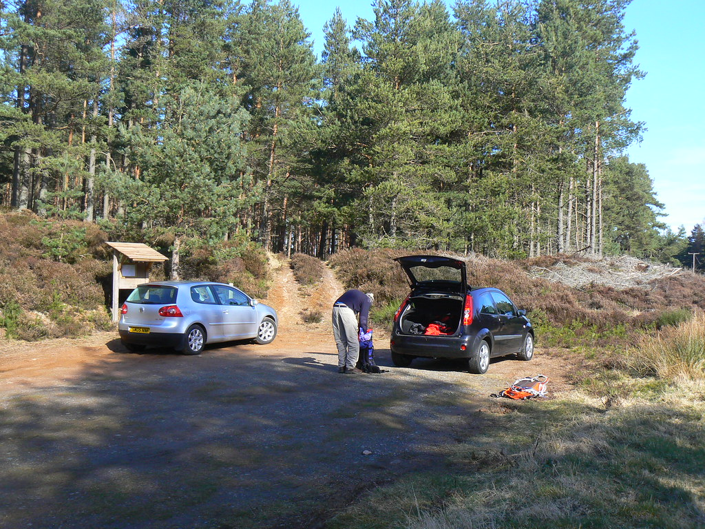 Booting up at Clachnaben Car Park 2