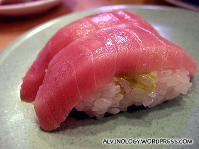 Chutoro sushi - the second best cut from a Tuna fish