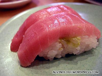 Chutoro sushi - the second best cut from a Tuna fish