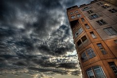 Cloudy Munze [Retenzija] (VitaR) Tags: city sky urban color reflection glass architecture clouds canon photography photo europe raw belgrade tone beograd hdr mapped bracketing zemun 3xp handheldhdr hdraddicted