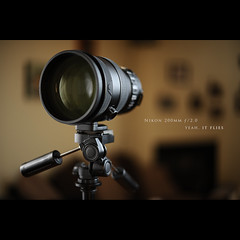 Nikon 200mm /2.0 (Dustin Diaz) Tags: camera lens 50mm fly nikon magic tripod humor stubby 200mm 200mmf20g strobist dustindiazcom icanseemyhousefromhere d700