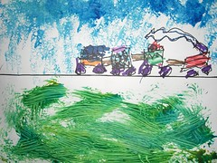 Train, a picture from Flickr photostream of MOYC Children's Art Displays