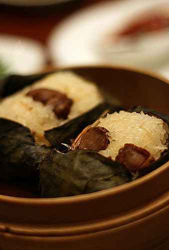 Steamed glutinous rice with abalone (S$5.20)