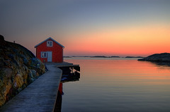 Somewhere in Sweden... (Johan Runegrund) Tags: pink blue sunset red orange west water norway night finland gteborg landscape denmark evening coast twilight dock nikon raw shadows sweden norden skandina