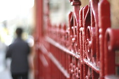 red fence ... still (_nejire_) Tags: uk red england people man black blur london canon fence eos kiss bokeh britain explore fp frontpage carlzeiss redfence fave20 10faves 20faves 25faves nejire 400d eos400d canoneos400d kissx fave10 310pm mhashi fave25 carlzeissplanart1450ze 7826394g025am 10929424g720am 20133524g450pm