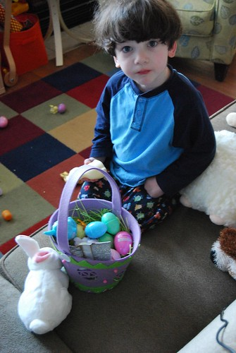 easter-boy and basket