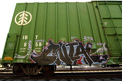 CNIAL (TRUE 2 DEATH) Tags: california railroad streetart art train graffiti tag graf trains railcar spraypaint boxcar railways railfan freight freighttrain rollingstock benching freighttraingraffiti cnial