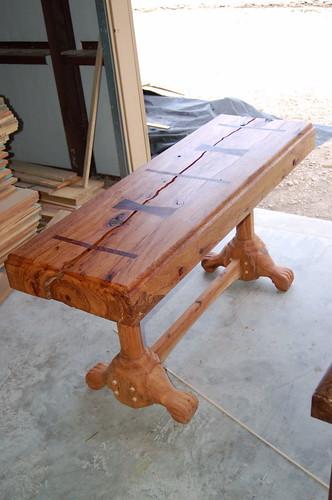 DSC 006815780008pecan hall table