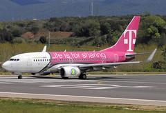 Transavia (T-Mobile) B737-7K2 PH-XRA GRO 18/04/2009 (jordi757) Tags: nikon airplanes girona boeing tmobile costabrava transavia 737 avions gro d300 phxra