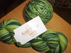 Gossamer Leprechaun (Ladymay) Tags: knit gossamer picks leprechaun