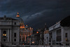 pioverà per qualcuno (Diego Errico) Tags: italy rome roma nuvole sanpietro pioggia temporale crepuscolo