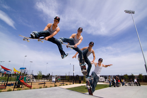 Multiplicity  skateboarding jump trick photo at a skatepark
