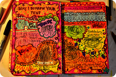 WTJ Scribble WILDLY using only BORROWED pens (eklektick) Tags: colorful postoffice thrift cvs kroger usbank kerismith wreckthisjournal mecklenberggardens scribblewildlyusingonlyborrowedpens eklektick