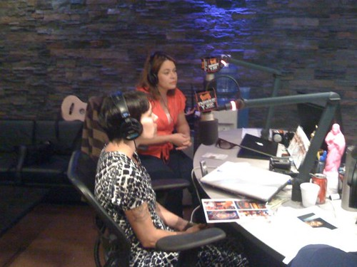 Janet and Lucely on Enrique y Joe Radio Show
