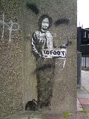 Banksy & 10foot (joeppo) Tags: street london art graffiti banksy archway 10foot