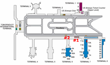 LAX United Terminal Map