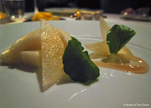 Cheese with Asian Pear, Watercress, and Maple Syrup