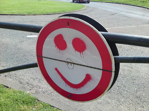 The smiley face of traffic