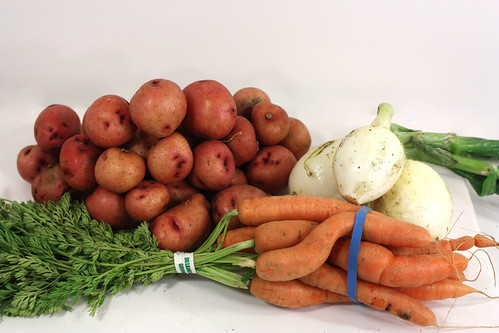 potatoes onions carrots