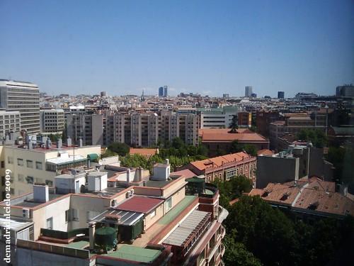 Madrid desde la planta número 12 del Hotel Meliá Princesa.