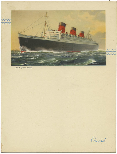 Cunard Menu RMS Queen Mary_June 21, 1954_tatteredandlost