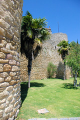 Ronda City Wall (cwgoodroe) Tags: summer costa white hot sol beach del bells spain ancient europe churches sunny bull bullfighter adobe ronda moors walls washed clothesline protective newbridge roda bullring stonebridge oldbridge spainish whitehilltown rondah spanishdoors