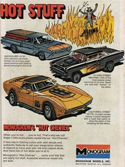 Monogram Hot Chevies Model Kits Ad (1976) (daniel85r) Tags: 70s modelcars comicbookads