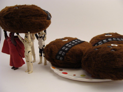 Stormtroopers, Imperial Guard and a Landspeeder Pilot stealing a Wookie Cookie for Darth Vader