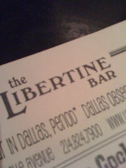 libertine bar.  dallas.